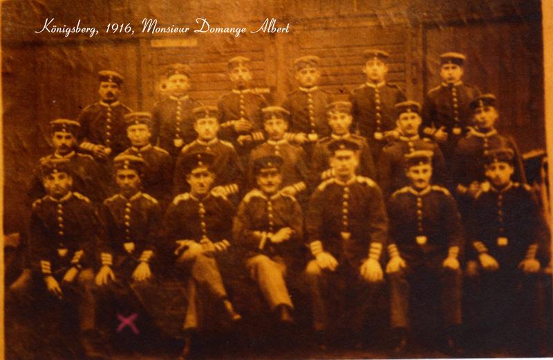 Domange Albert, Königsberg 1916