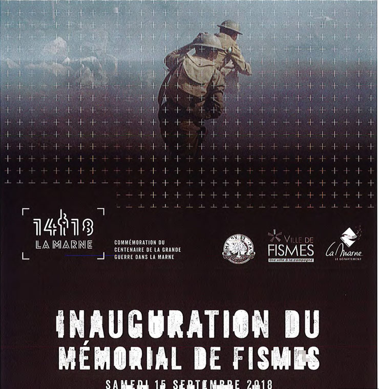 inauguration du mémorial de Fismes