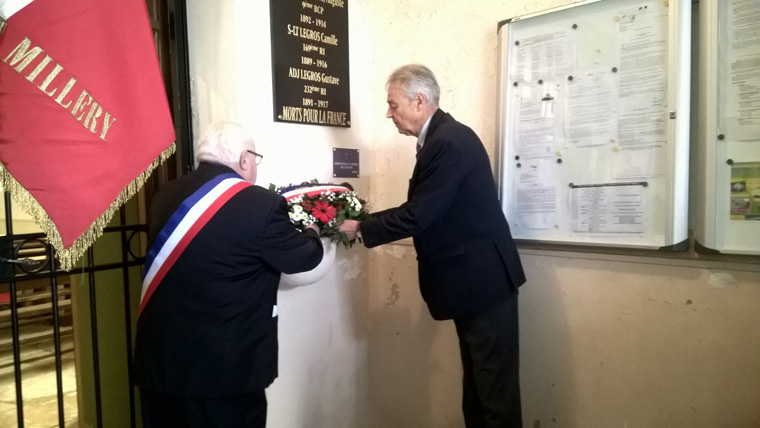 Othe, plaque commémorative de 3 sous officiers (Photo Christine.T)