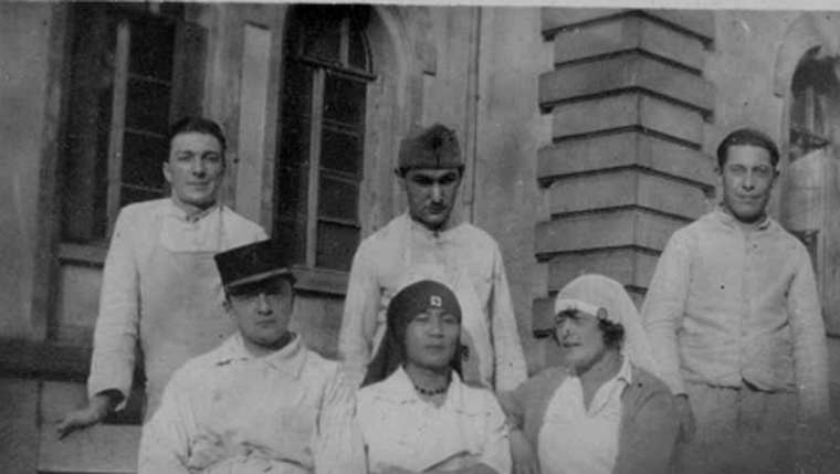 Bertholat Joseph à l'hôpital à Paris 1915 (collection : Marie-Claude.P)