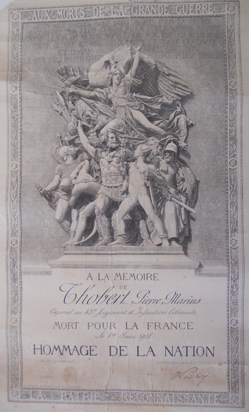 Mort pour la France (Document : Jean-Pierre.G)
