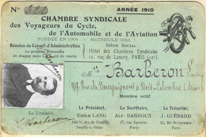 Carte-syndicale-aviation-auto-1910.(Collection Barberon.C)