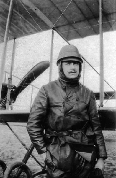 CHAGNAUD Charles-Appareil Maurice Farman.  (Collection Fernande.B)