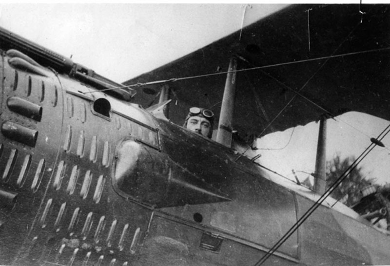 CHAGNAUD Charles-Avion Salmson 2A2.  (Collection Fernande.B)