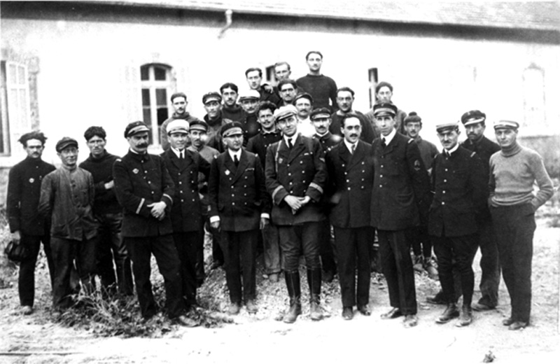 Equipage du dirigeable Dixmude. (Collection Fernande.B)