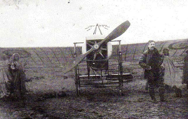 P ALLONCLE avec le Blériot. (Collection Fernande.B)