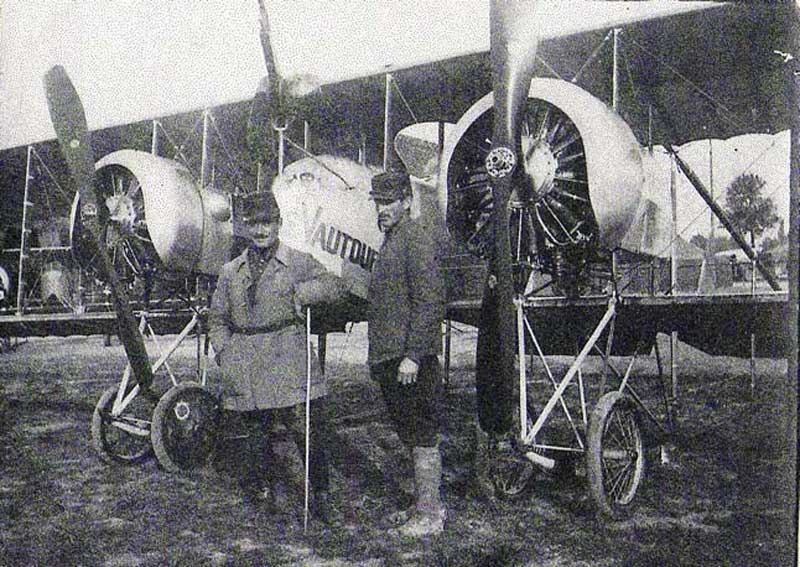 P ALLONCLE et F MARCOT-Caudron G4-Escadrille C61. (Collection Fernande.B)