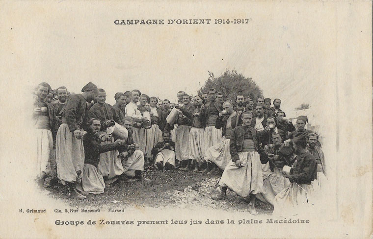 "Zouaves  campagne d'orient ""Collection famille Heraud"""