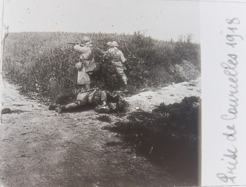 Prise de Courcelles-Epayelles (Oise) 1918 (Collection : Paulette.F)