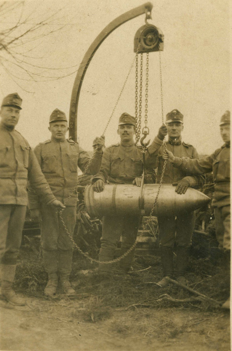 Autrichiens 1915, Obus calibre 305mm.(Collection Patrice Lamy)