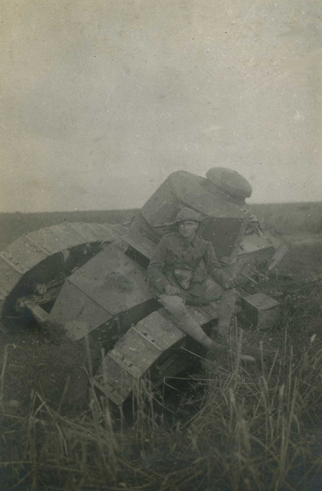 Somme, 1918, char français Renault.(Collection Patrice Lamy)