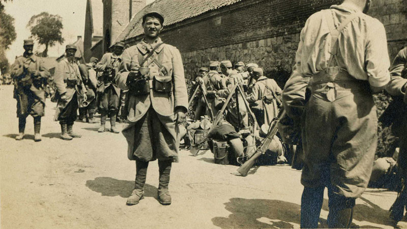 Avant l'attaque d'Artois - Mai 1915. (Collection Patrice Lamy)