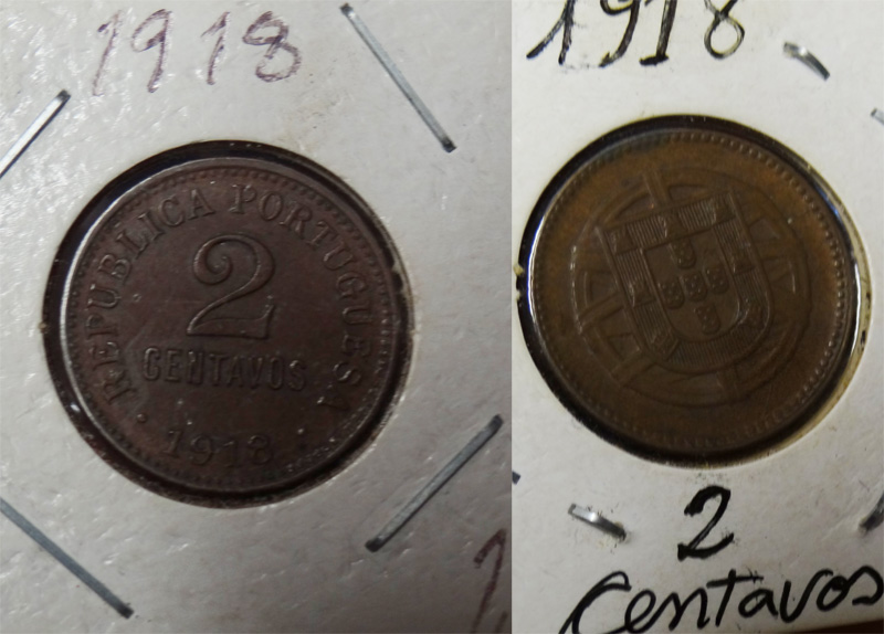 Monnaie 2 centavos-1918-Portugal (Collection-A.R)