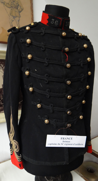Dolman de capitaine du 36e régiment artillerie (Collection-A.R)