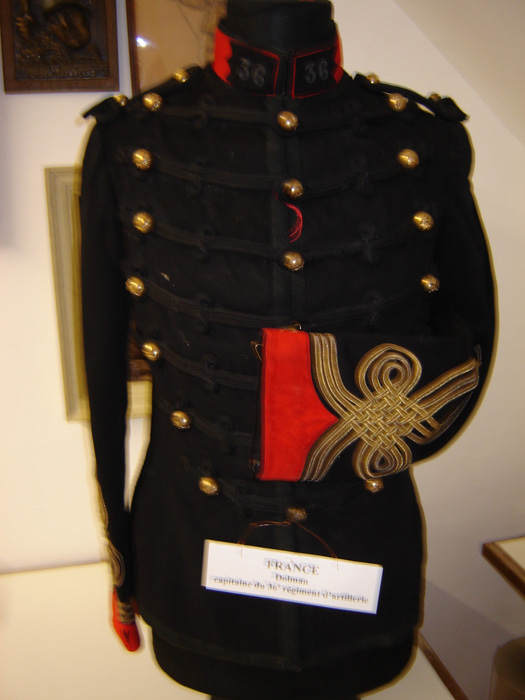 France Dolman de Capitaine du 36 Régiment  artillerie.( Collection privée : A.R )