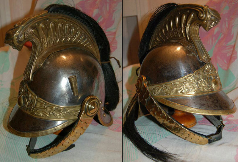 Casque de dragon français modèle 1872-1874 (collection Steven-H)