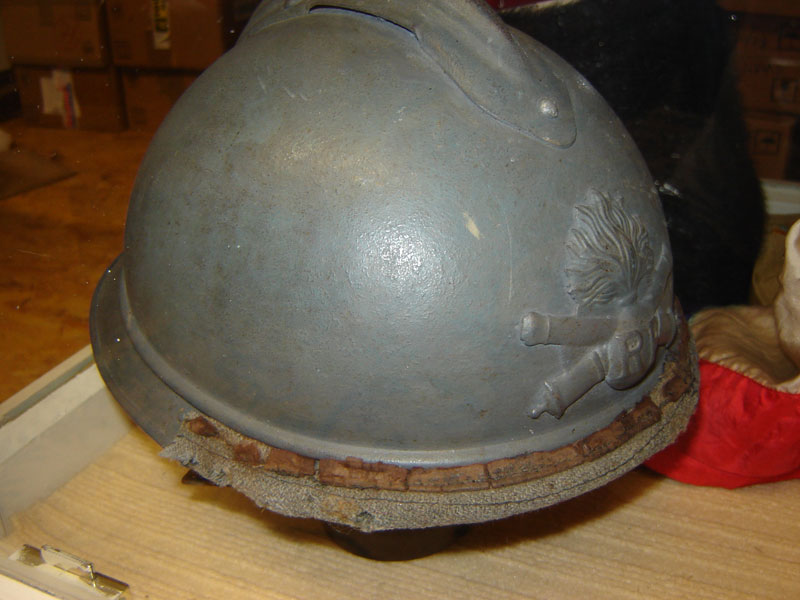Casque Adrian, pilote de char, modèle 1915 (Collection privee: A-R).