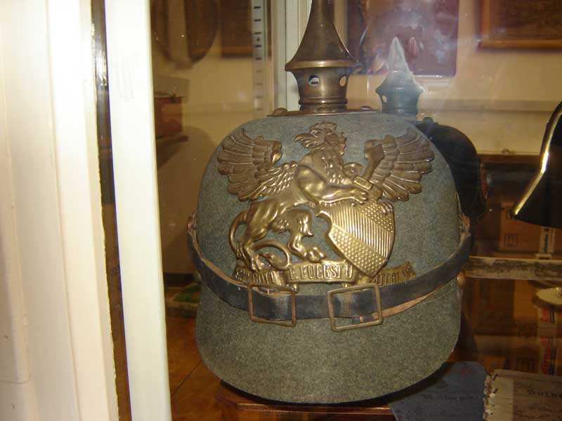 Casque erzatz en feutre, infanterie de Bade (Collection privée: A-R).