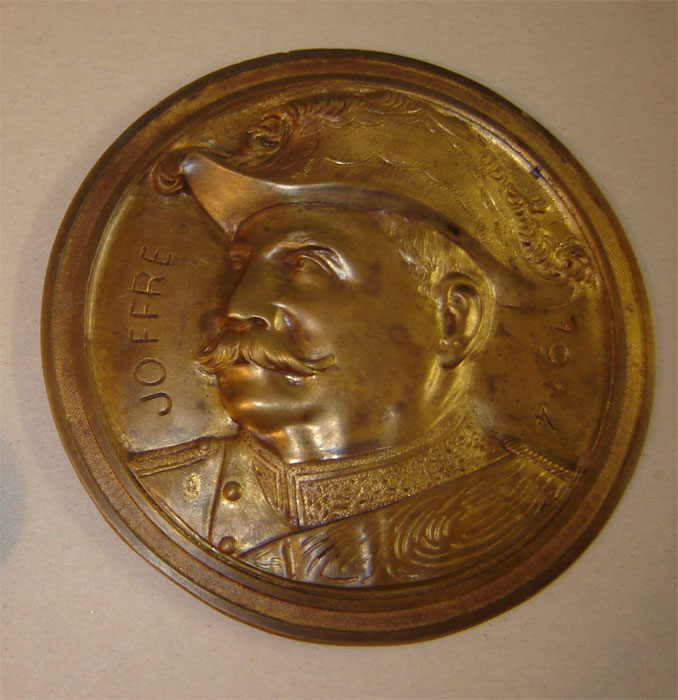 Plaque en bronze Joffre-1914 (Collection privée: A.R)