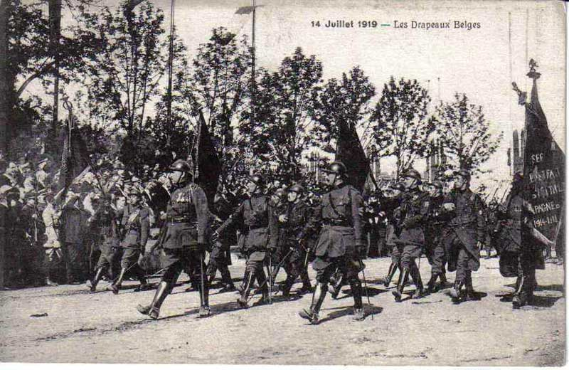 14 juillet 1919, les Belges (collection Michel.T)