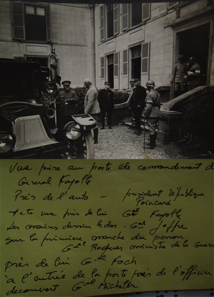 Joffre, Foch, Poincaré, Fayolle, Micheler (Collection-A.R)