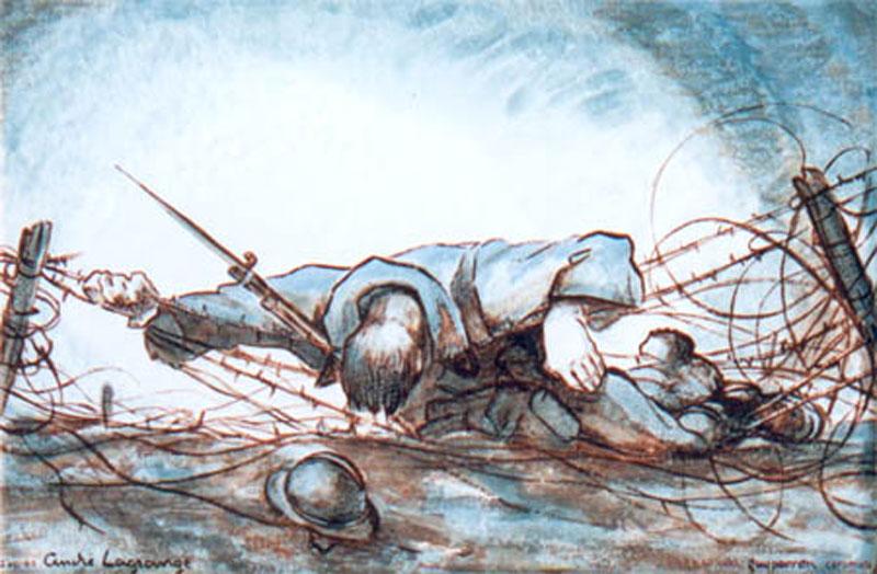 martyrs 1917 dessin de andre lagrange