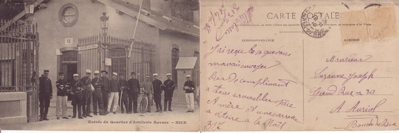 Caserne de Nice (Document : Jean-Pierre. G)