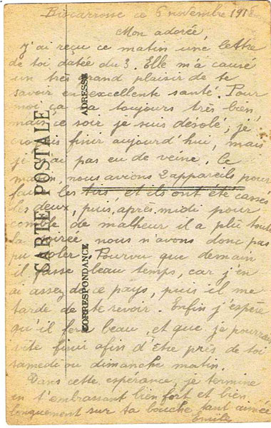 Lettre de Thomas Emile (Collection Fernande.B)