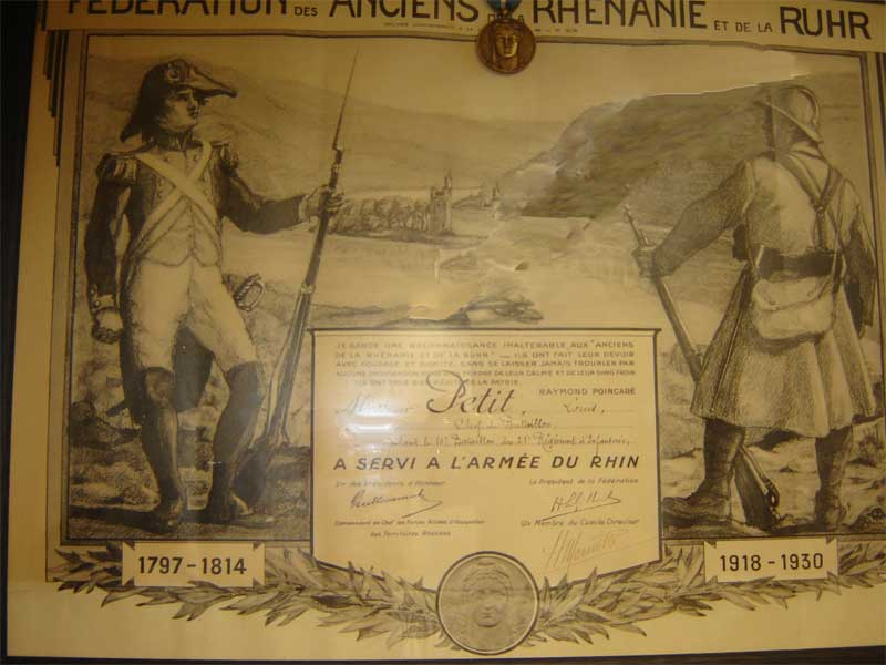 Occupation de la Rhur 10eme bataillon du 25eme regiment  infanterie  l'Armée du Rhin (collection privée:A-R)