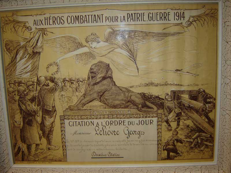 2eme Citation à l'ordre du jour, Lelievre Georges, 26eme chasseur (collection privée:A-R)